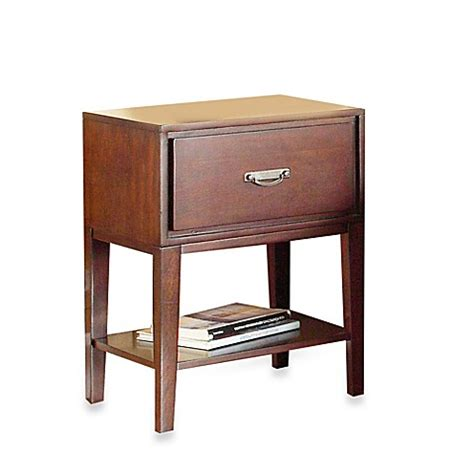 bed bath and beyond nightstand verona home one drawer accent table straight leg