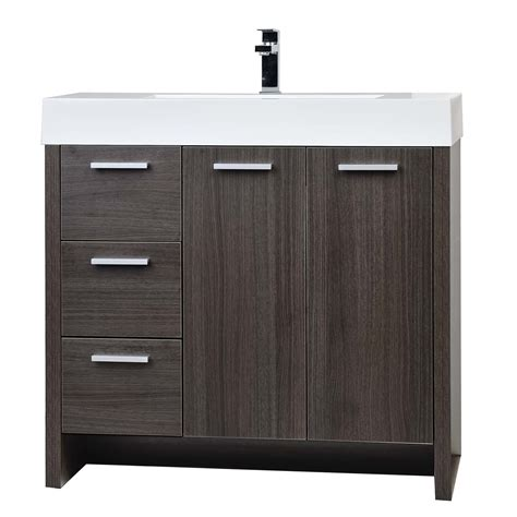 Oak Bathroom Vanity Buy 35 5 Quot Modern Bathroom Vanity Grey Oak Finish Tn Ly900