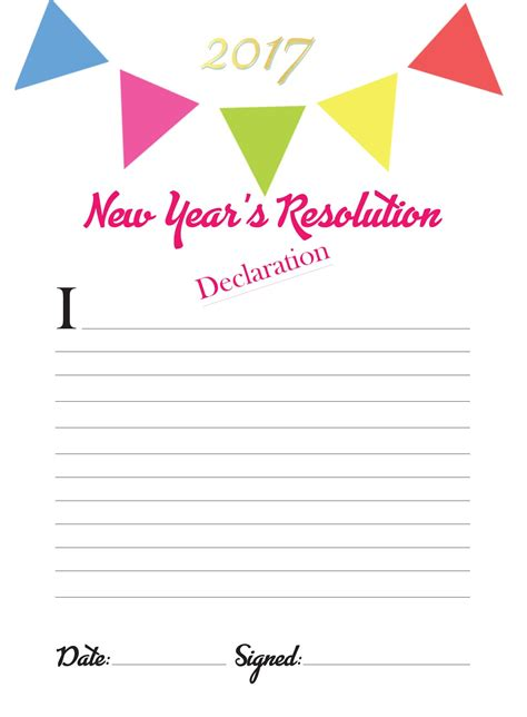 this cute new year s resolution template is great for
