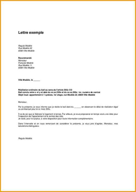 Exemple De Lettre Pour Demande De Logement Hlm Modele Lettre Resiliation Bail Entreprise Document