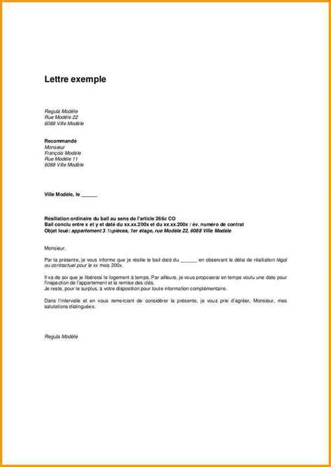 modele lettre resiliation bail entreprise Document Online