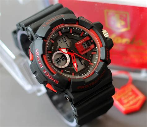 Tetonis Sport 2168 2 Rubber Blk For buy jam tangan sport pria wanita water resistant 2 model deals for only rp 202 500 instead of