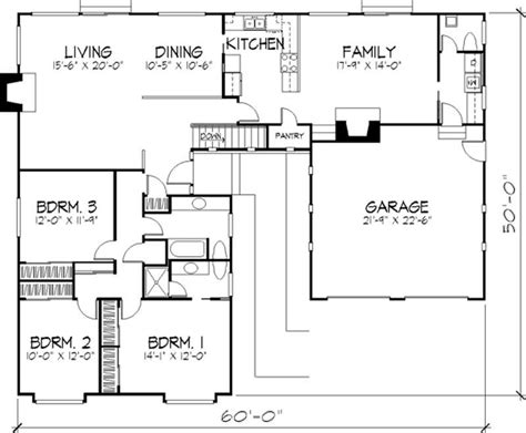 Design Floor Ls by Modern House Plans Home Design Ls H 36881 B 21332