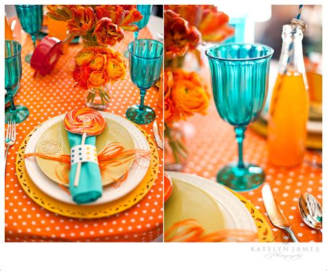 Orange And Turquoise Tablescape Turquoise With Orange   orange and turquoise tablescape turquoise with orange