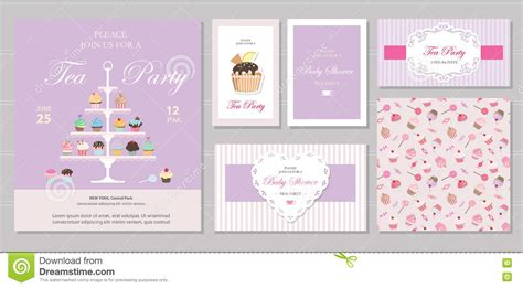 pastel color card templates templates with cupcakes stand and in pastel
