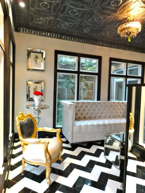 modern baroque living room chevron floor regency living room liv chic interior design