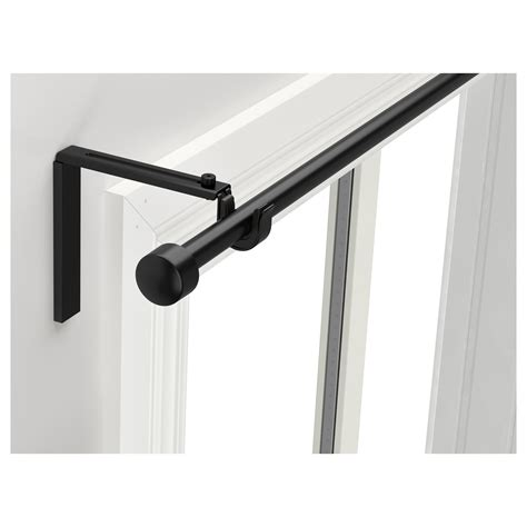 ikea curtain brackets r 196 cka curtain rod combination black 120 210 cm ikea
