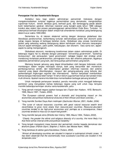Perekonomian Indonesia Tantangan Dan Harapan Bagi Kebangkitan Indonesi visi indonesia karakteristik bangsa dan tantangan ilmu pemerintahan