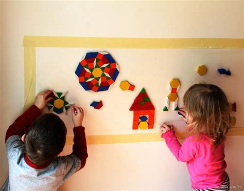 painting for free to play sensory play activity for children wall mosaic