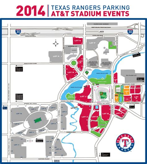 texas rangers parking lot map at t stadium events and parking texas rangers