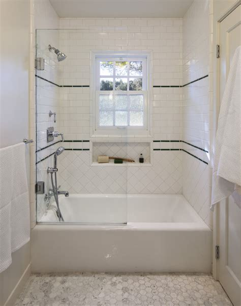 classic 1930 s tile work for shower traditional