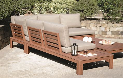 wooden garden sofa set miami wooden garden lounge set with cushions out and out