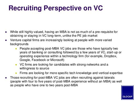 Best Mba Program For Equity Or Venture Capital by 2014 Mba Guide To Hiring In The Equity Venture