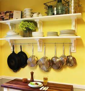 Hanging Pots On Wall Kitchen 25 Best Ideas About Pot Rack Hanging On