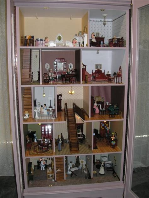 open dolls house an armoire becomes a perfect dollhouse ruby lane blog