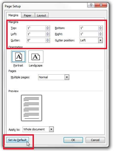how to set default margins in excel 2010 how to set page