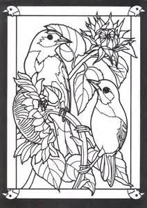 stained glass coloring books beautiful birds in mated pairs stained glass coloring book