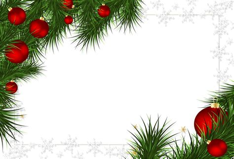 christmas decorations png transparent photo frame with