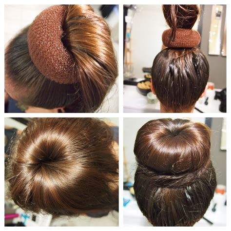 howtododoughnut plait in hair how to do a hair bun step by step