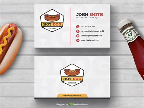 hot dog fast food business card template freebcard