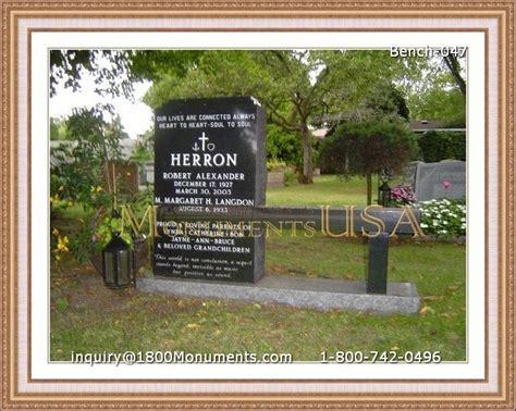 memorial garden benches stone bench headstones