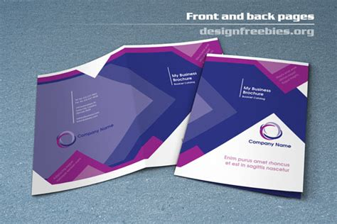 free bifold booklet flyer brochure indesign template no 1
