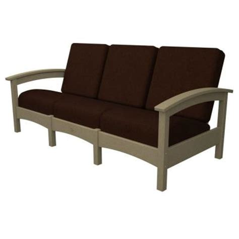 trex outdoor furniture rockport sand castle patio sofa