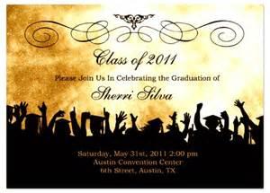 graduation invites templates free graduation invitation template sle invitations