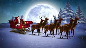 santa claus and reindeer stock footage video 5088224