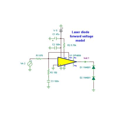 laser diode driver circuit design creation and simulation of an opa569 laser driver circuit