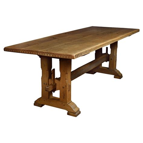 large oak refectory dining table  stdibs
