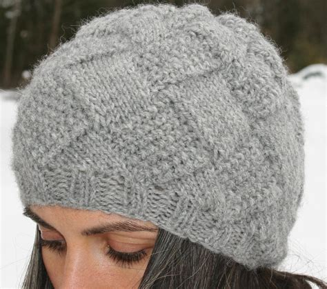 knitting patterns for hats entrelac hat also by amanda lilley knitting pattern