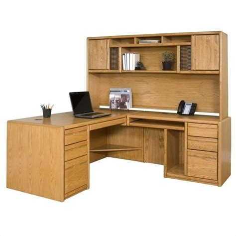 Martin Furniture Cont Rhf L Shape Home Office Set Medium Oak Office Desk