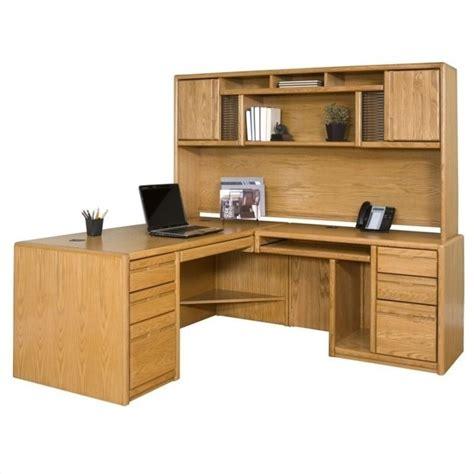 martin furniture cont rhf  shape home office set medium