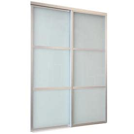 72 Inch Closet Doors Shop Reliabilt White 3 Lite Laminated Sliding Closet Interior Door Common 72 In X 80 In