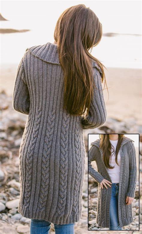 knit pattern long sweater coat 424 best cardigan knitting patterns images on pinterest