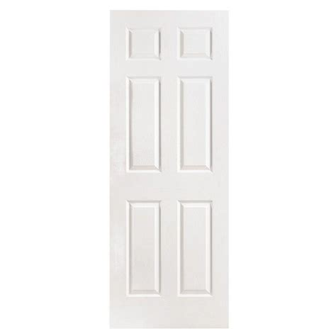 home depot solid core interior door masonite 32 in x 80 in 6 panel textured solid core primed composite single prehung interior
