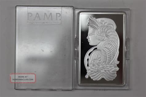 10 troy ounce 999 silver bar 10 oz ounce p suisse 999 silver bar fortuna