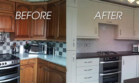 New Cabinet Doors Before And After Replacement Kitchen Doors Sale Still On Gordon S Makeovers