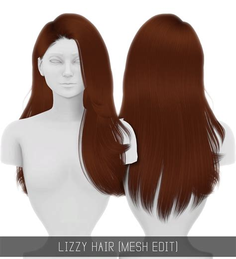 simplicity hair cc sims 4 simply king simpliciaty cc lizzy hair mesh edit