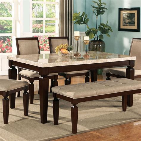 Agatha White agatha white marble top dining table acme furniture