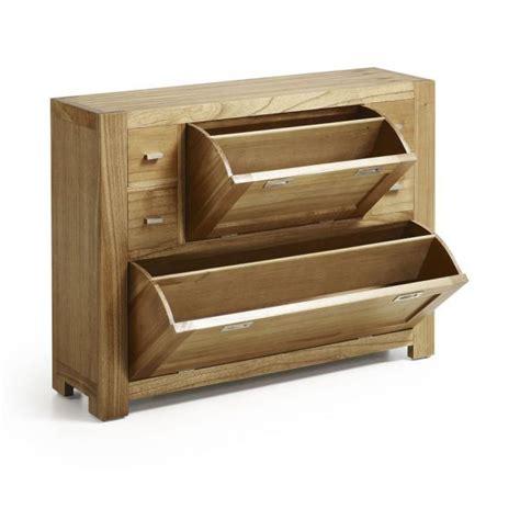 meuble 224 chaussures en bois massif 4 tiroirs entr 233 e