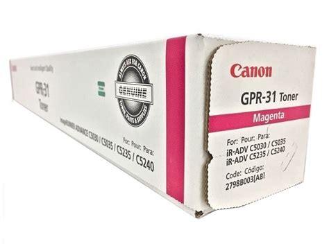 Canon Toner Ep329 Magenta Berkualitas canon 2798b003ab gpr 31 magenta toner cartridge