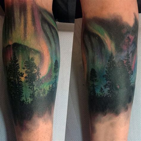 50 northern lights tattoo designs for men aurora