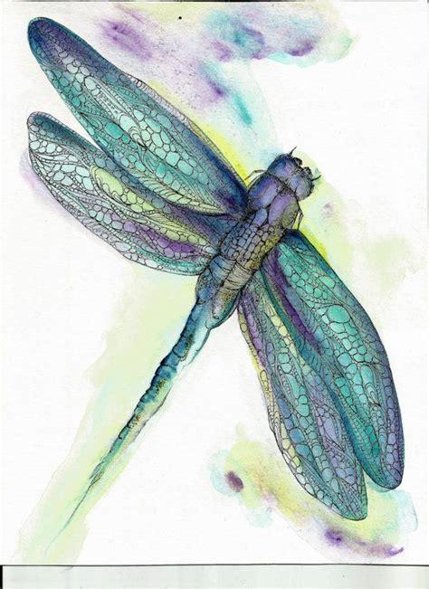 dragonfly l original stunning dragonfly print 8 x 10 watercolor original