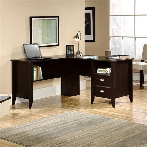 l shaped espresso computer desk office furniture mission furniture craftsman furniture