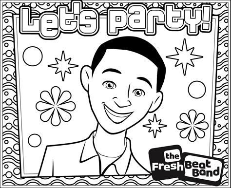 fresh beat band coloring pages coloring home