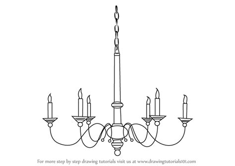 kronleuchter zeichnung learn how to draw a chandelier furniture step by step