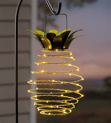 Ideas For Pineapple Outdoor Lights Design Hanging Solar Lantern Decoration Pineapple Solar Accents