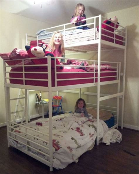 bunk beds pictures triple bunk bed diy ikea hackers ikea hackers